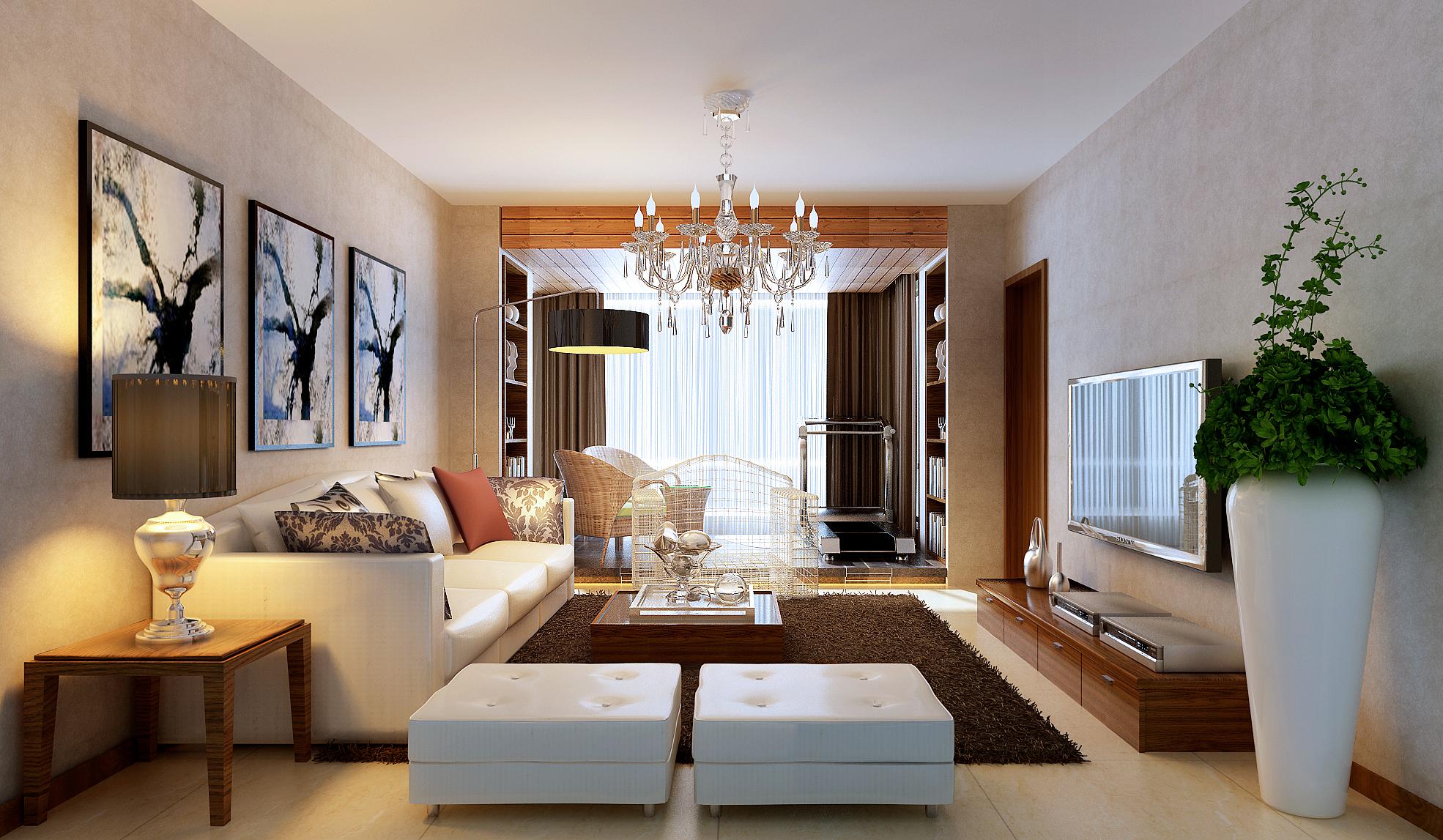 简约 三居 白领 80后 小资 时尚 高大上 客厅图片来自实创装饰都琳在东恒时代现代简约的分享