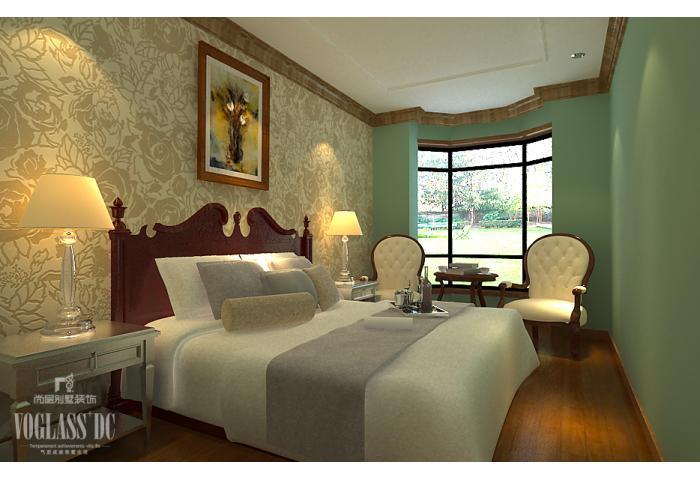 别墅 卧室图片来自天津尚层装修韩政在东丽湖华侨城伈水园的分享