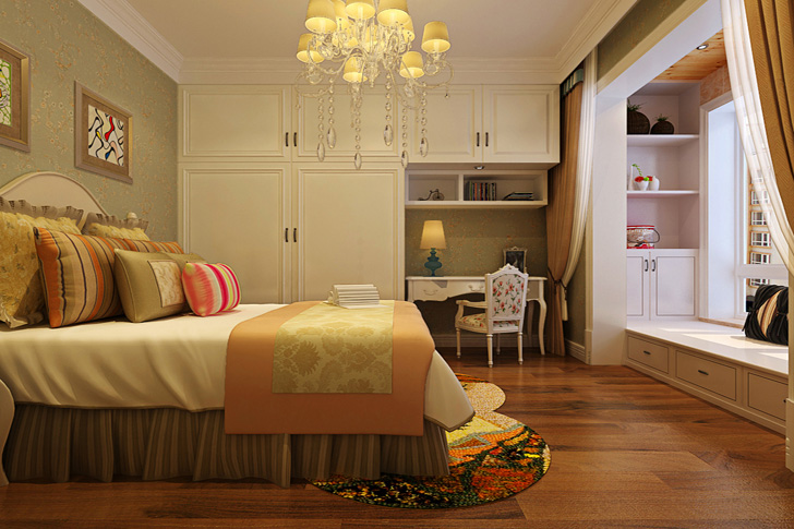 田园 三居 80后 小资 卧室图片来自石家庄业之峰装饰在维多利亚140平米田园风格装修的分享