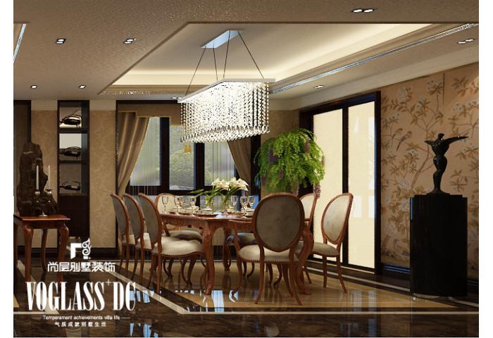 别墅 餐厅图片来自天津尚层装修韩政在恒大绿洲新中式风格的分享