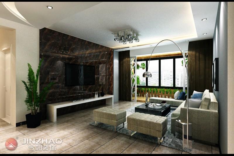 简约 客厅图片来自阿布的小茅屋15034052435在和泰紫园168平米-现代简约的分享