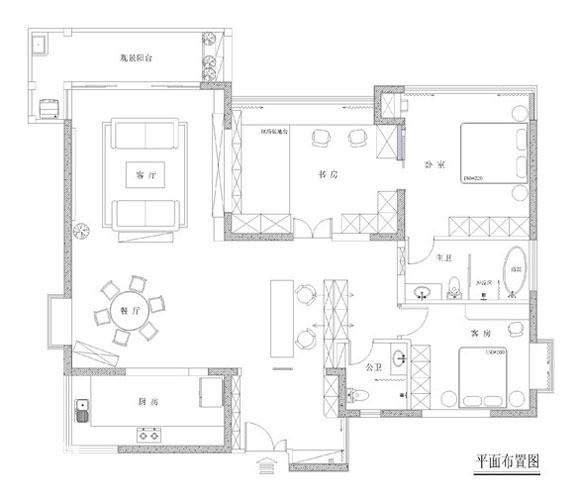 别墅 简约 户型图图片来自天津尚层装修韩政在融科伍仟岛的分享