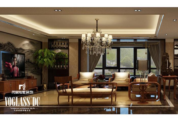 别墅 客厅图片来自天津尚层装修韩政在恒大绿洲新中式风格的分享