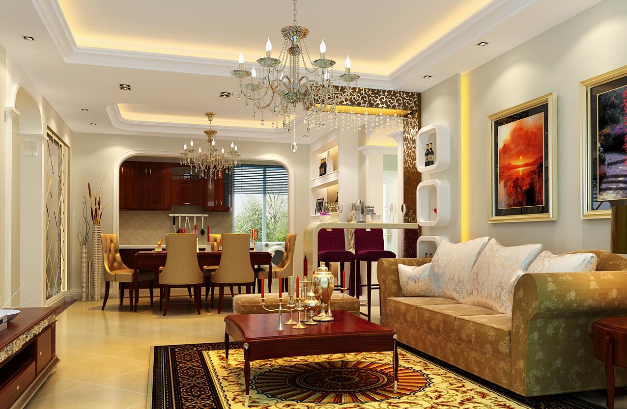 时尚前卫 现代生活 多储物设计 小资装修 80后装修 餐厅图片来自上海实创-装修设计效果图在118平米现代古典混搭风格设计的分享