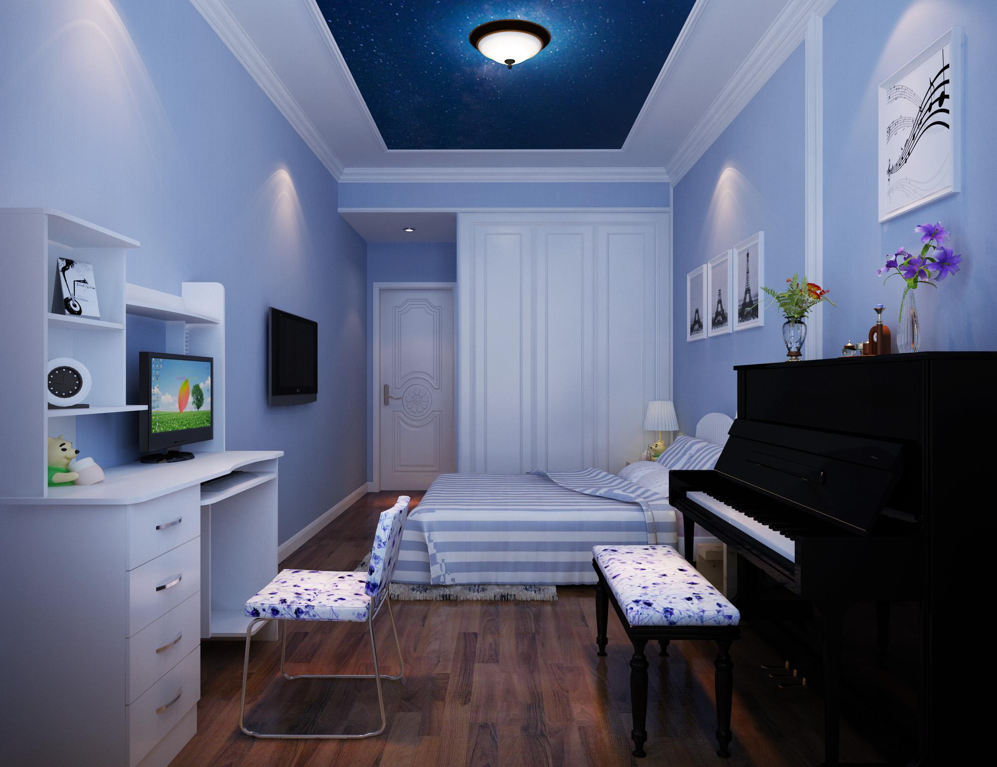 欧式 三居 卧室图片来自北京今朝装饰刘在纳帕澜郡经典三居简欧设计的分享