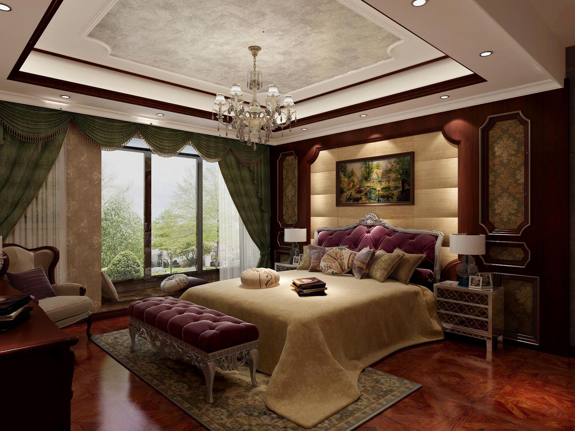欧式 别墅 卧室图片来自北京今朝装饰刘在玉翠尚府的分享