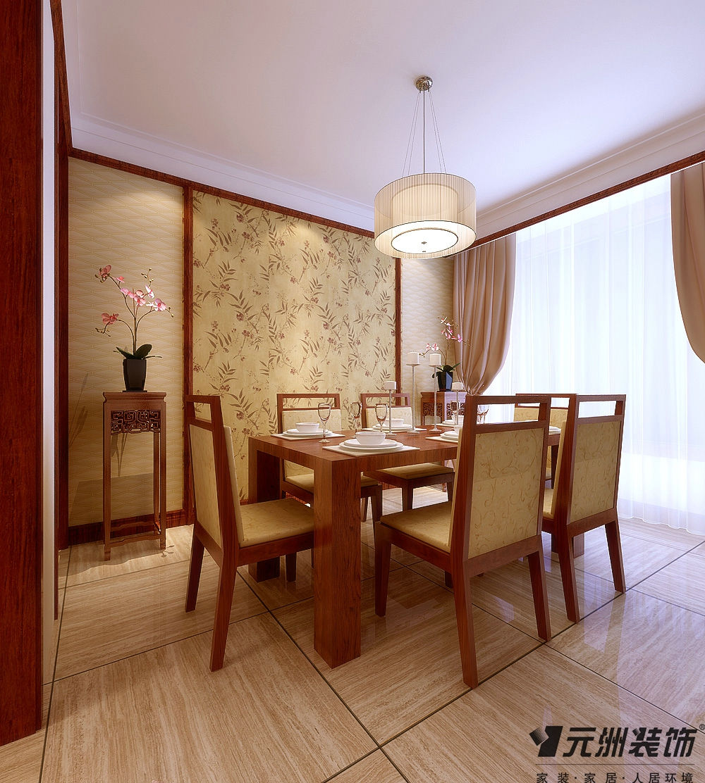 中式风格 东胜紫御府 装修效果图 80后 小资 餐厅图片来自石家庄-小程在东胜紫御府的分享