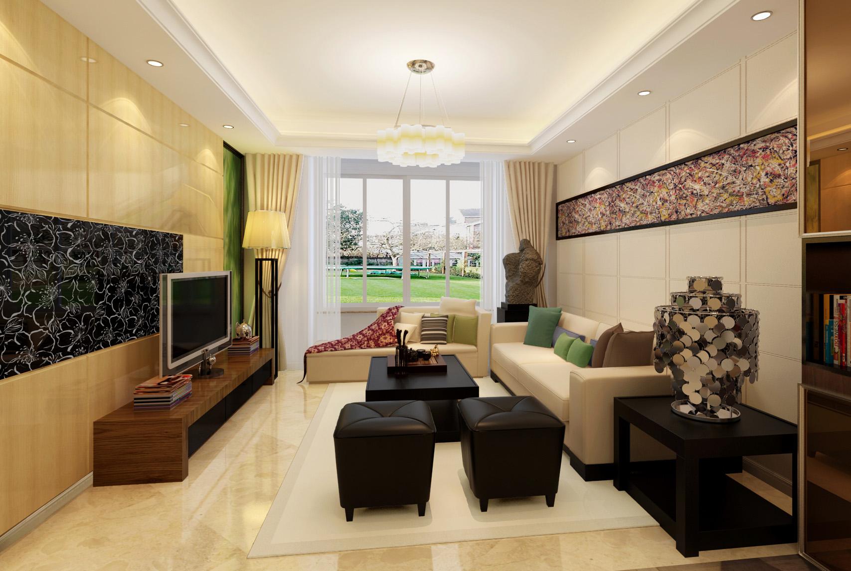 现代 三居 80后 客厅图片来自北京今朝装饰刘在润泽公馆三居经典现代设计的分享