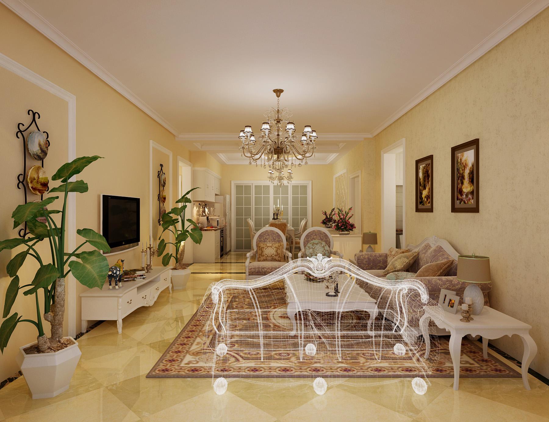 欧式 三居 客厅图片来自北京今朝装饰刘在纳帕澜郡经典三居简欧设计的分享