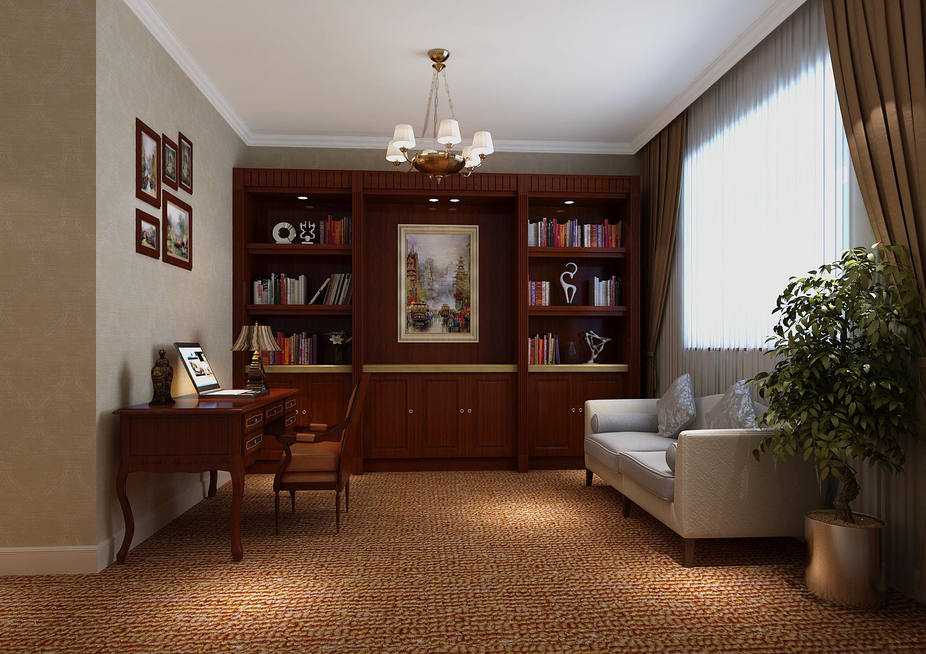 欧式 三居 80后 书房图片来自北京今朝装饰刘在鲁能七号院欧式大三居经典设计的分享