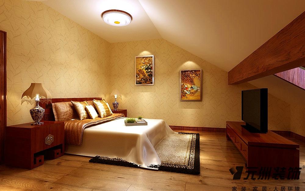 中式风格 东胜紫御府 装修效果图 80后 小资 卧室图片来自石家庄-小程在东胜紫御府的分享