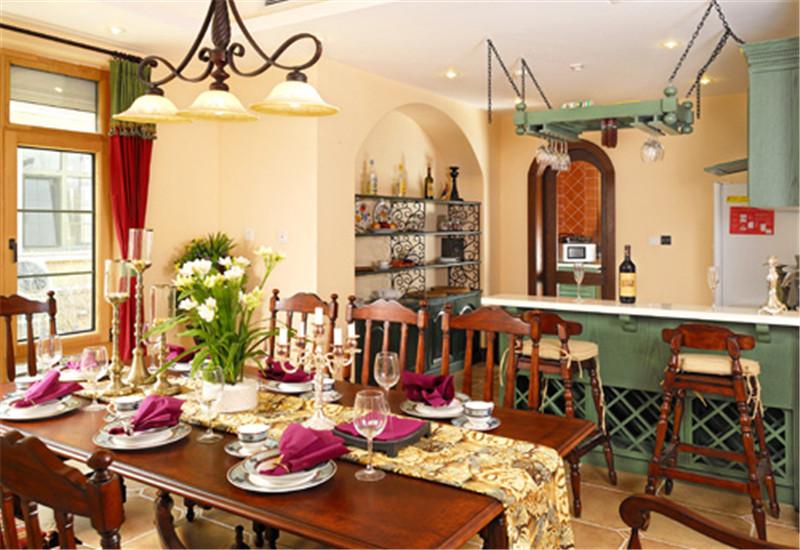 别墅 意式乡村风 托斯卡纳 餐厅图片来自尚层装饰张迪在西山林语意式乡村托斯卡纳风格的分享