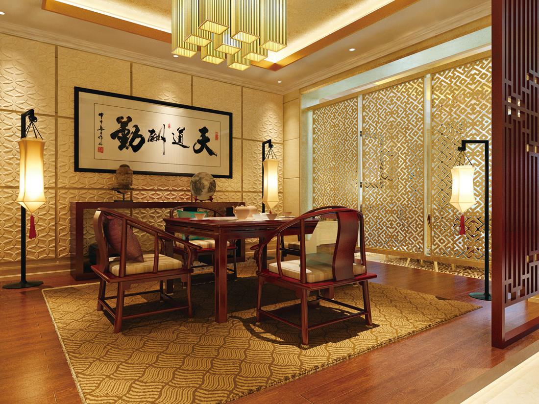 新古典 别墅 白领 尚层装饰 书房 书房图片来自北京别墅装修案例在800平新古典风格案例全新展示的分享