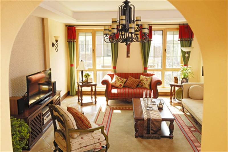 别墅 意式乡村风 托斯卡纳 客厅图片来自尚层装饰张迪在西山林语意式乡村托斯卡纳风格的分享