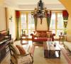 北京别墅装修——客厅。浓烈饱满的色彩,时尚个性的搭配,传递的是主人热情、好客的生活态度。