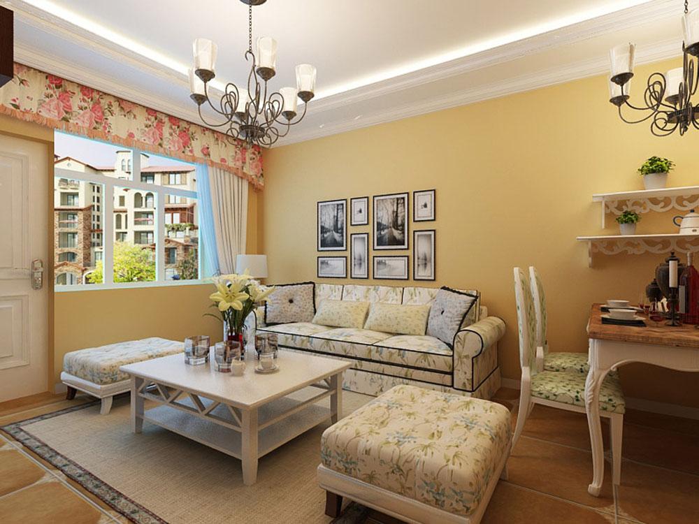 田园 二居 白领 收纳 80后 小资 客厅图片来自阳光力天装饰在香邑国际-89.92㎡-田园风格的分享
