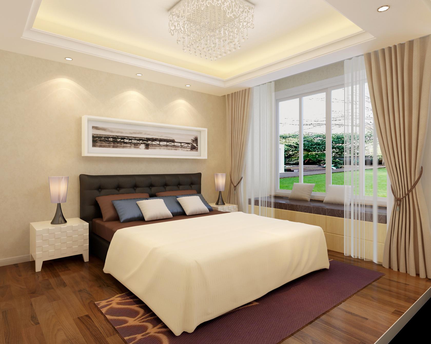 现代 三居 80后 卧室图片来自北京今朝装饰刘在润泽公馆三居经典现代设计的分享