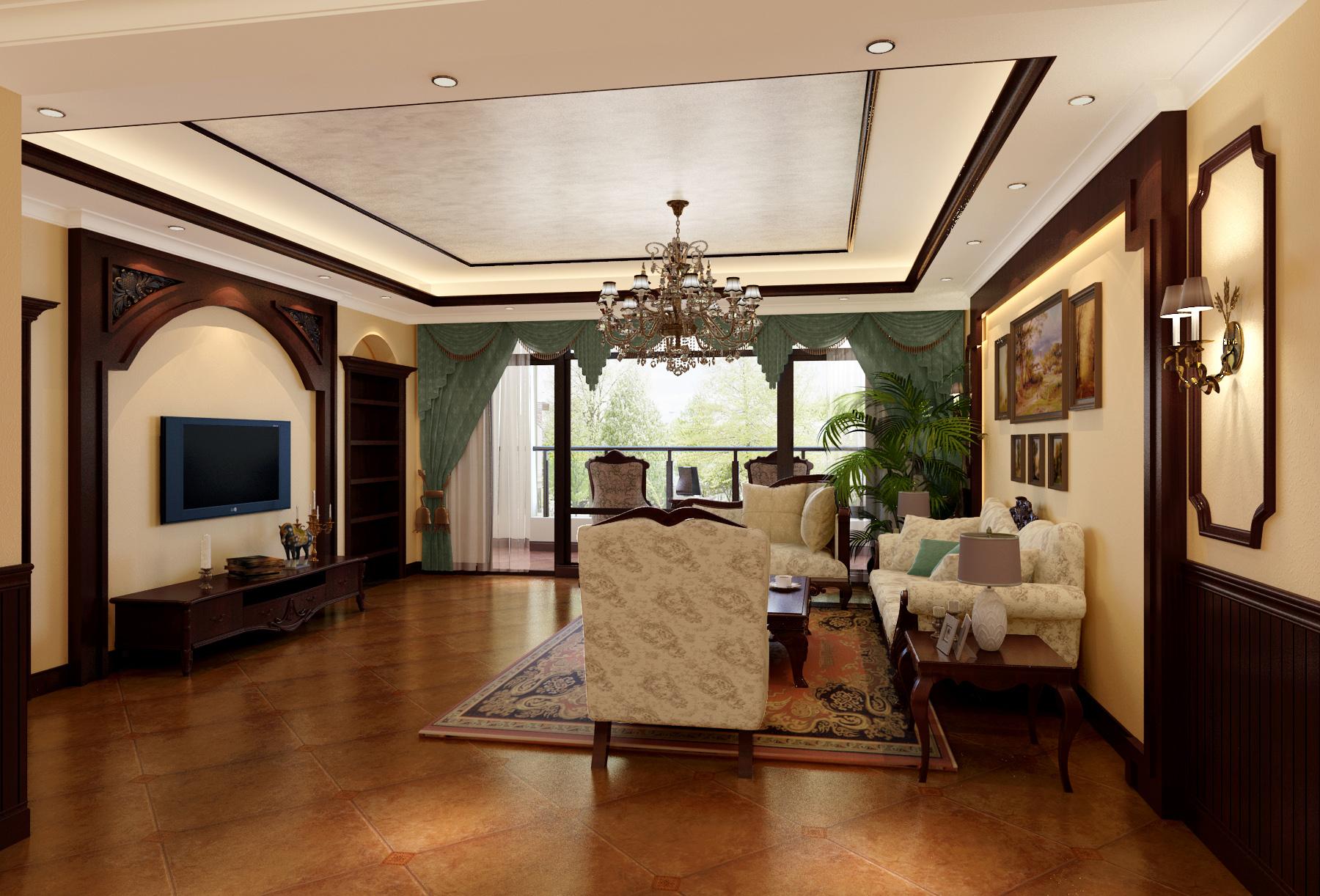欧式 别墅 客厅图片来自北京今朝装饰刘在玉翠尚府的分享