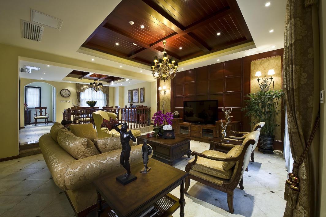 别墅 客厅图片来自博览天下在龙湖滟澜山-320平米新古典风格的分享