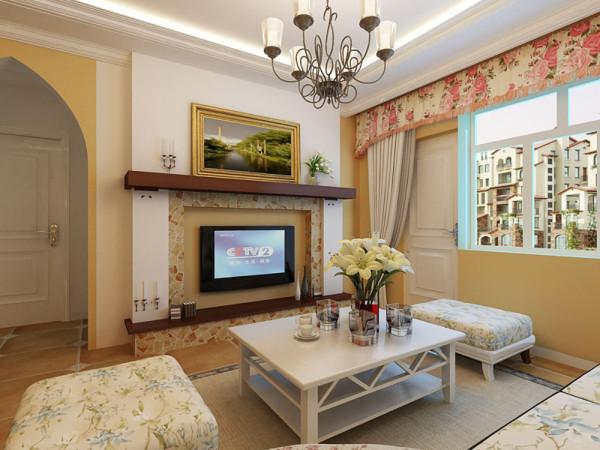 本次案例设计的是香邑国际2室2厅1卫 89.92㎡。设计风格为田园风格。