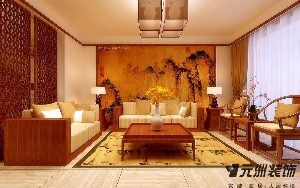 中式风格 东胜紫御府 装修效果图 80后 小资 客厅图片来自石家庄-小程在东胜紫御府的分享