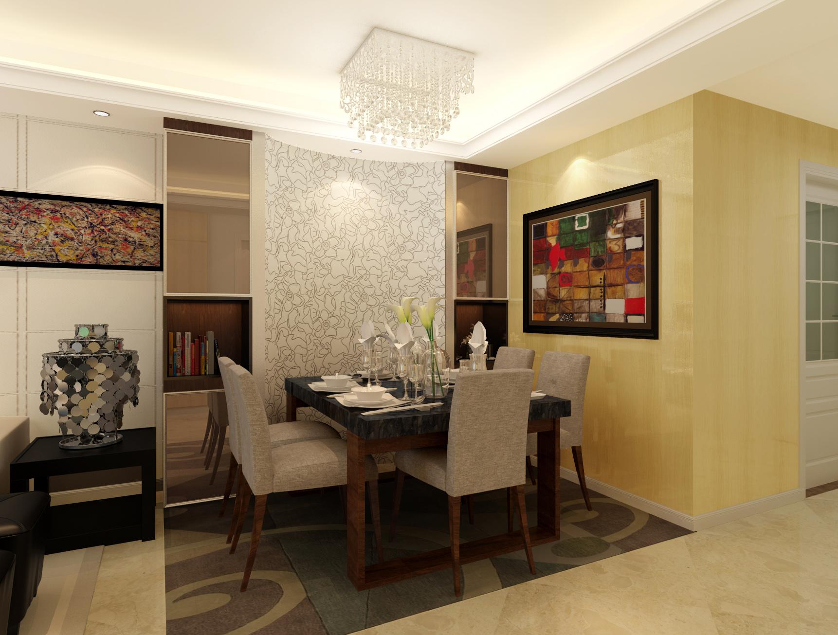 现代 三居 80后 餐厅图片来自北京今朝装饰刘在润泽公馆三居经典现代设计的分享