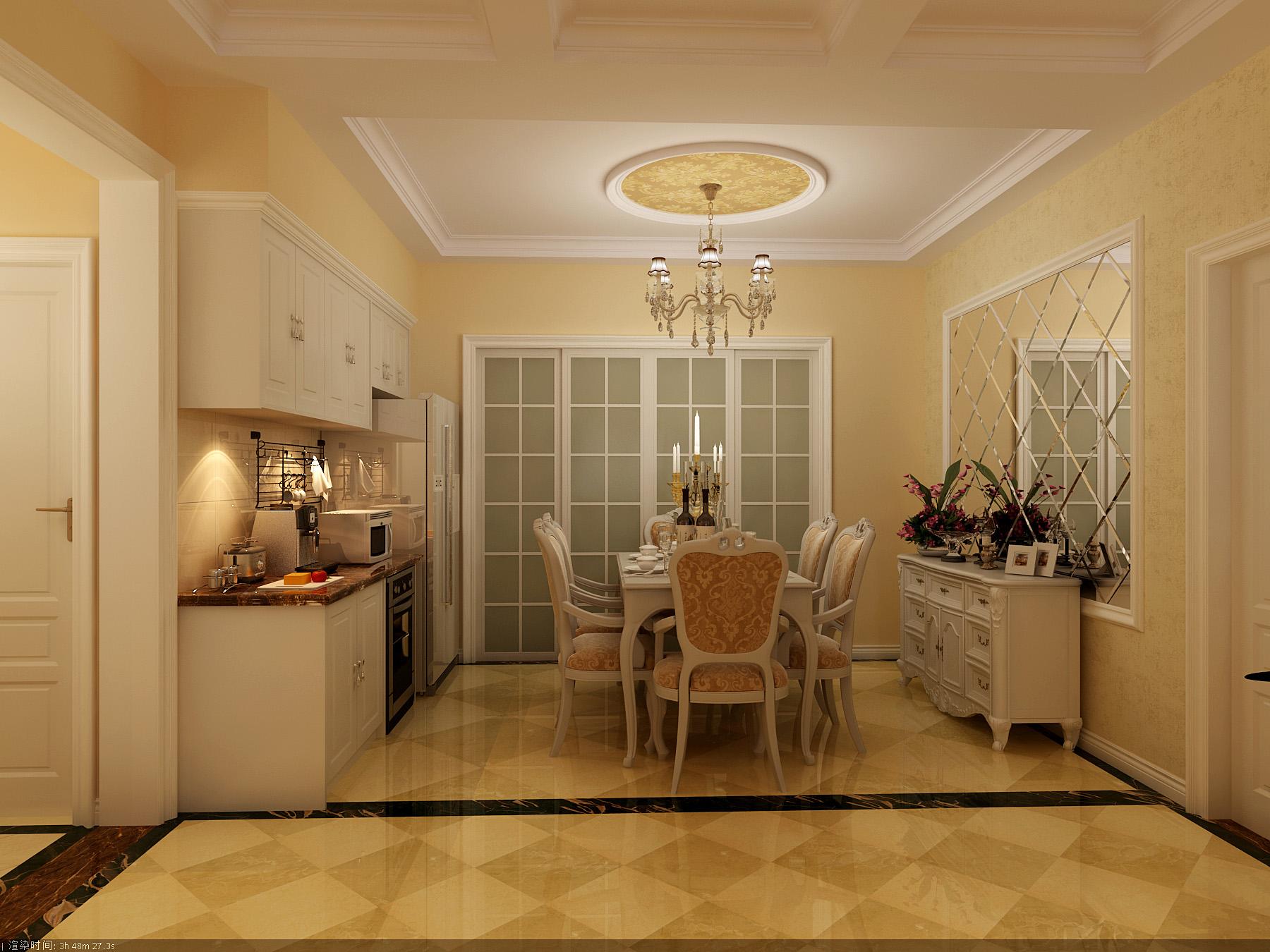 欧式 三居 餐厅图片来自北京今朝装饰刘在纳帕澜郡经典三居简欧设计的分享