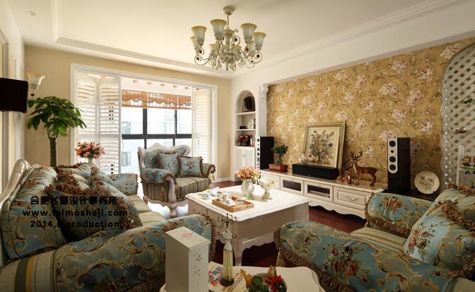 欧式 田园 80后 客厅图片来自合肥飞墨李秀玲设计在现代欧式田园新概念——新馨小筑的分享