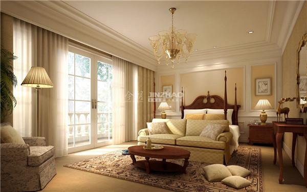 清新唯美的欧式卧室,没有用一贯的浓郁色彩,反而更加超凡脱俗。