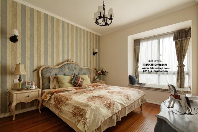 混搭 美式 白领 收纳 80后 小资 卧室图片来自合肥飞墨李秀玲设计在140平混搭风格晨光小路的分享