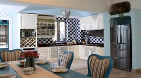 地中海 舒适 小清新 三居 厨房 厨房图片来自成都幸福魔方装饰工程有限公司在三室蓝色海  舒适小清新的分享