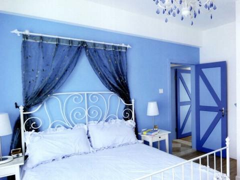 地中海 三居 白领 旧房改造 卧室图片来自今朝装饰李海丹在130平米三居地中海的分享