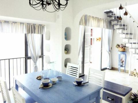 地中海 三居 白领 旧房改造 餐厅图片来自今朝装饰李海丹在130平米三居地中海的分享