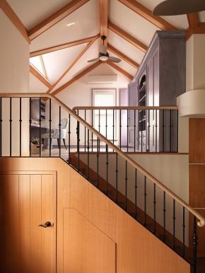 复式设计 简欧风格 储物设计 小清新 楼梯图片来自上海实创-装修设计效果图在82平简欧森系复式温馨雅居的分享