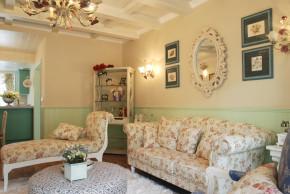 田园 二居 温馨 舒适 客厅 客厅图片来自成都幸福魔方装饰工程有限公司在温馨舒适田园风的分享