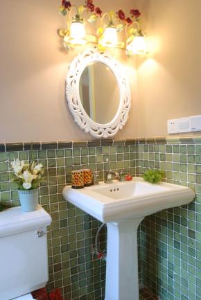 田园 二居 温馨 舒适 卫生间 卫生间图片来自成都幸福魔方装饰工程有限公司在温馨舒适田园风的分享