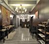 咖啡馆整体工装实景图