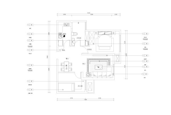 在前期的规划中,我们将主卧室阳台墙体拆除,将主卧空间使用面积有效扩大;然后将卫生间门口的墙垛拆除,使空间功能流线更加流畅。户型整体设计风格为紫色浪漫主义风格,整体以紫色调色调贯穿