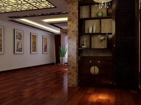 中式 三居 白领 收纳 80后 小资 客厅 餐厅 玄关图片来自百家装饰小迪在华发岭南荟130平中式风格的分享