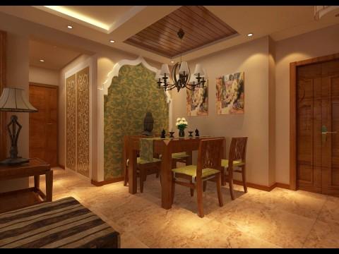 简约 欧式 田园 混搭 三居 白领 80后 小资 收纳 餐厅图片来自百家装饰小姜在浦江御景湾东南亚风情123平的分享
