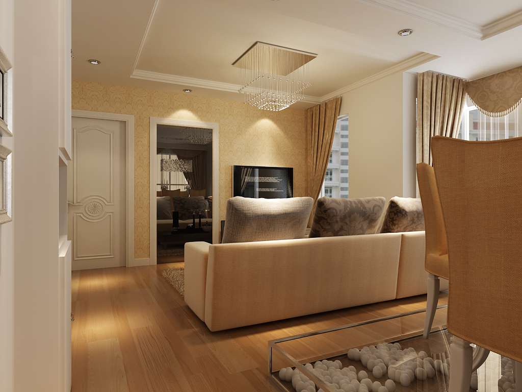 简约 二居 客厅图片来自多啦A梦的百宝袋在嘉榆新城80平的分享
