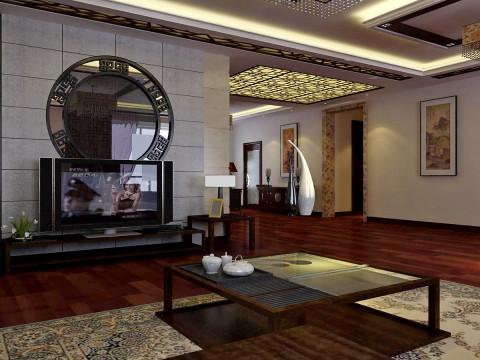 中式 三居 白领 收纳 80后 小资 客厅 餐厅 客厅图片来自百家装饰小迪在华发岭南荟130平中式风格的分享