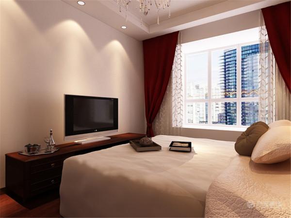 卧室床后做护墙板造型,有中式的格调。在材料之间的关系交接上,中式设计需要通过特殊的处理手法以及精细的施工工艺来达到要求。