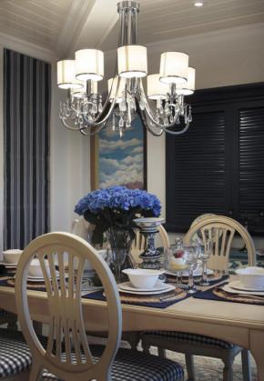 地中海 温馨 舒适 蓝与白 餐厅图片来自成都生活家装饰在110㎡温馨地中海风格3居室的分享