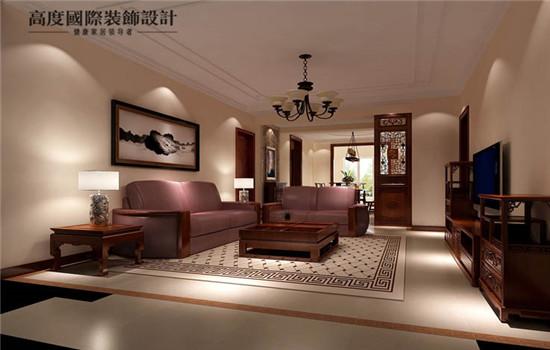 中式 空间感 装修 设计 客厅图片来自高度老杨在中铁花语城新中式设计的分享
