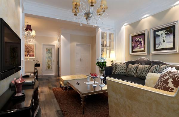 在客厅的家具配置上偏向精品质感,一组黑色镶着不锈钢线条的沙发与麦褐色的丝绒沙发形成对称美感再搭配桌灯、摆饰等画龙点睛的衬托,明快又具质感的色泽,让客厅更有时尚美感。