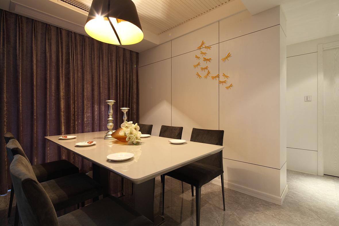 简约 别墅 小资 田园 餐厅图片来自苹果装饰公司在大气四居室现代简约装修实例的分享