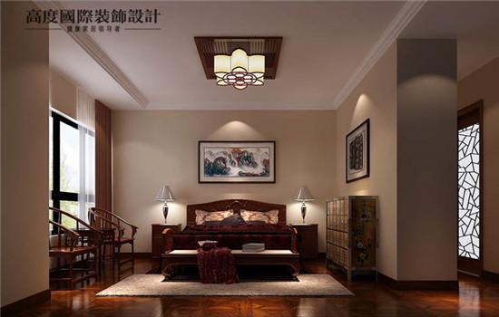 中式 空间感 装修 设计 卧室图片来自高度老杨在中铁花语城新中式设计的分享