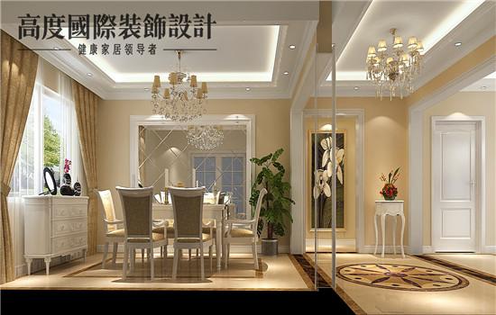 欧式 平层 豪华 大气 奢侈 餐厅图片来自高度老杨在玺萌公馆欧式设计的分享