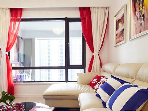 客厅 设计亮点:整个空间使用现代简约的语汇进行设计,造型上面以直线为主,摒弃了繁杂的装饰线条。通过现代的设计手法来表现一种活泼浪漫的氛围。
